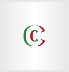 C letter logotype green red icon symbol vector