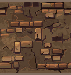cartoon seamless pattern texture old brown vector image vector image