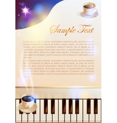 Coffee and piano vector