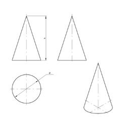 Cone vector image