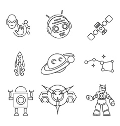 Conquest of space outline edition 2 vector