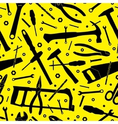 Construction tools Seamless background Template vector image
