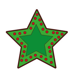 crhistmas star light icon vector image vector image
