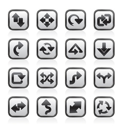 different kind of arrows icons vector image