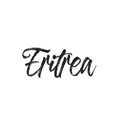 Eritrea text design calligraphy vector