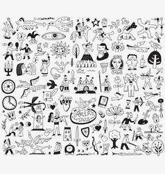 Fairy tale doodles vector