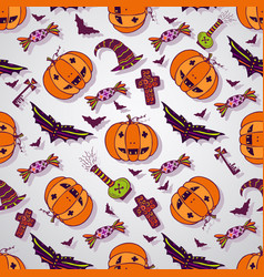 Halloween sketches background hand drawn vector