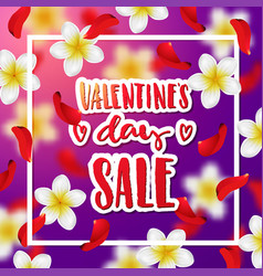 Hand drawn calligraphy valentines day sale vector