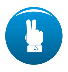 Hand hey icon blue vector