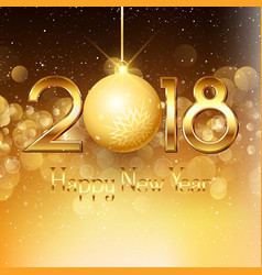 happy new year background with gold text and vector image vector image