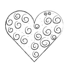 heart love romantic icon vector image vector image