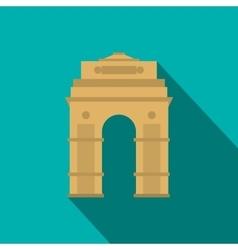 India gate new delhi india icon flat style vector