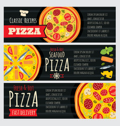 italian pizza and pizzeria restaurant vector image vector image