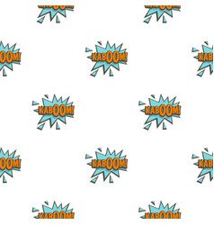 Kaboom comic text sound effect pattern seamless vector
