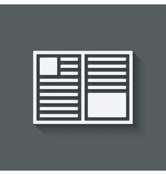 open book symbol vector image vector image
