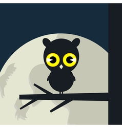owl sits vector image vector image