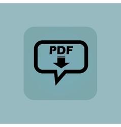 Pale blue pdf download message vector