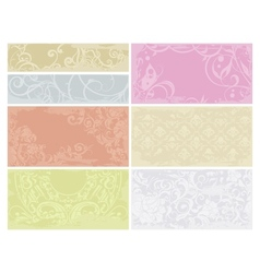 Patterned cards set vector image