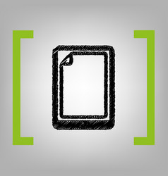 protective sticker on the screen black vector image