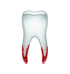 Pulled tooth with blood vector