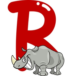 R for rhino vector image