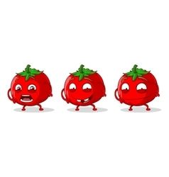 Red crazy tomatoes set vector