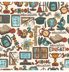School education seamless pattern vector image vector image