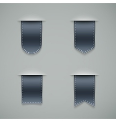 set of grey ribbons vector image vector image