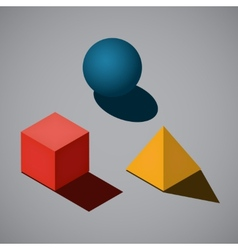 Simple geometrical shapes vector image vector image