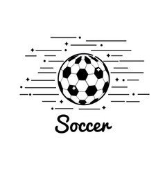 Symbol soccer play icon vector