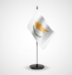 Table flag of cyprus vector