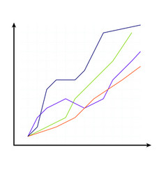 template of curve chart vector image