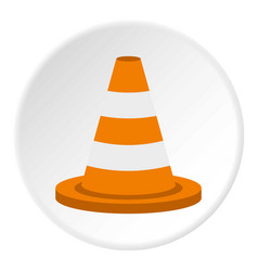 Traffic cone icon circle vector
