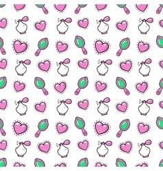 Little girl princess seamless background vector