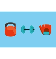 Gym weights equipment vector