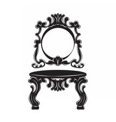 Vintage baroque imperial dressing table set vector