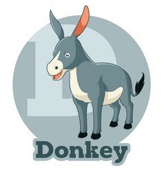 abc cartoon donkey vector image