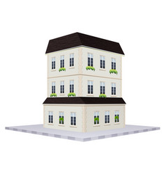 Building design for house with three floors vector