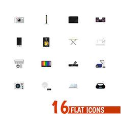 Set of 16 editable tech icons includes symbols vector