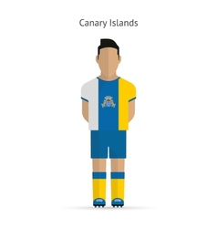 Canary islands football player soccer uniform vector