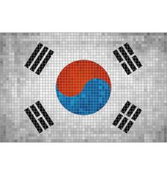 Flag of korea vector