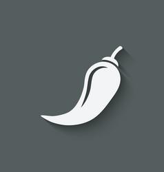 Chili pepper symbol vector