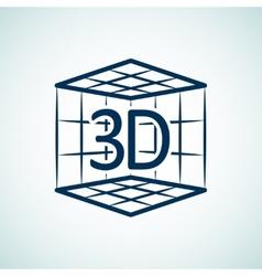 3d print icon vector image