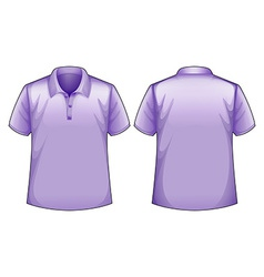 Purple shirts vector