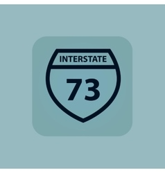 Pale blue interstate 73 icon vector