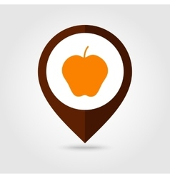 Apple mapping pin icon harvest thanksgiving vector