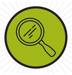 Magnifying glass inline icon vector