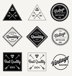 Collection of Vintage Retro Label Set of 9 vector image