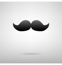 Mustache black icon vector