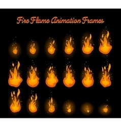 Fire flame animation for fire trap vector